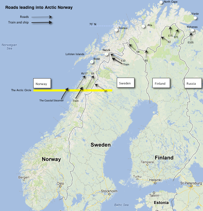 Getting There Above The Arctic Circle On Two Wheels - Sweden map arctic circle